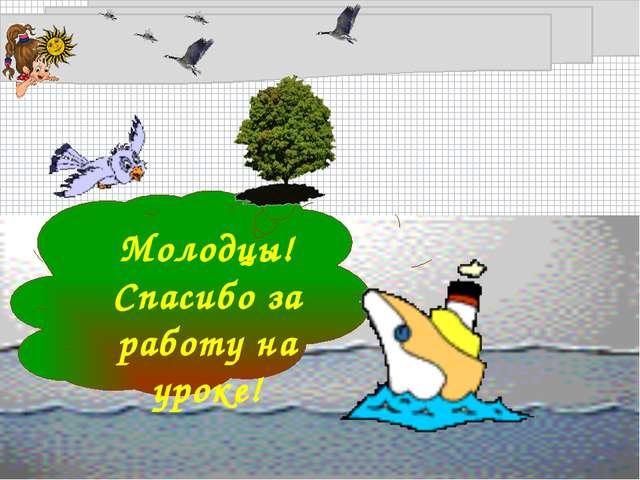 Молодцы! Спасибо за работу на уроке! FokinaLida.75@mail.ru