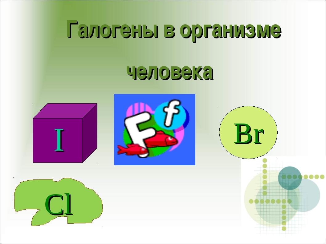 Галогены в организме человека Br