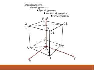 A1 A C1 B B1 D1 D C x y z O
