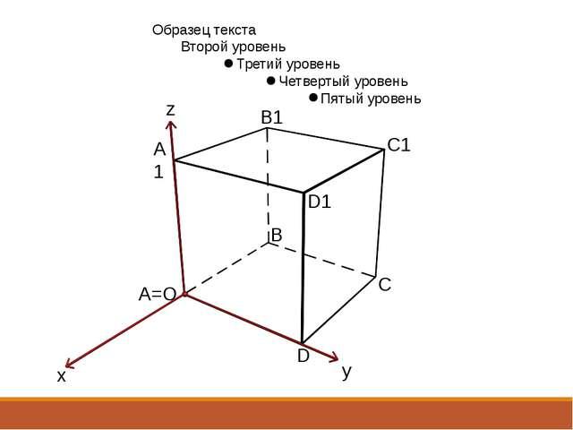 A1 A=O C1 B B1 D1 D C x y z