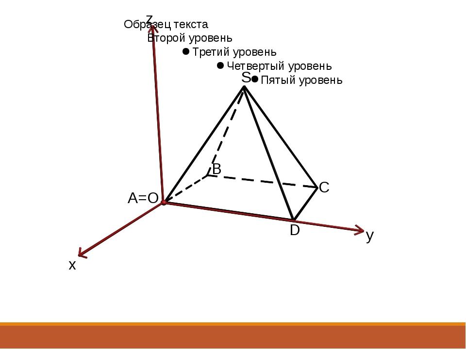 A=O B S C x y z D