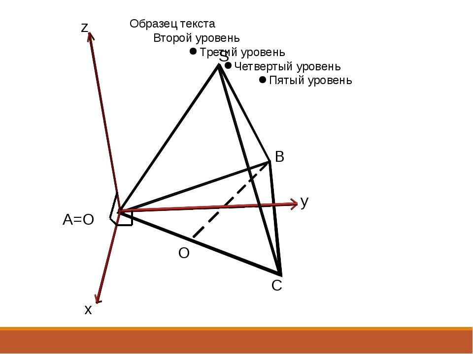 A=O B S C x y z O