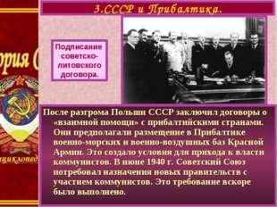 3.СССР и Прибалтика. Подписание cоветско- литовского договора. После разгрома
