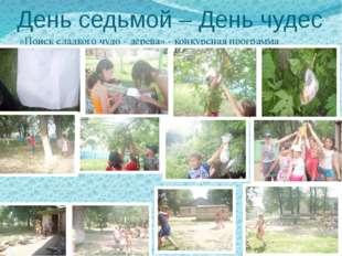 День седьмой – День чудес «Поиск сладкого чудо - дерева» - конкурсная програм
