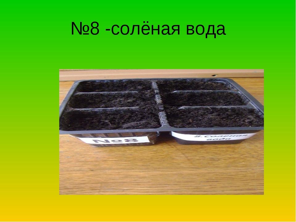 №8 -солёная вода