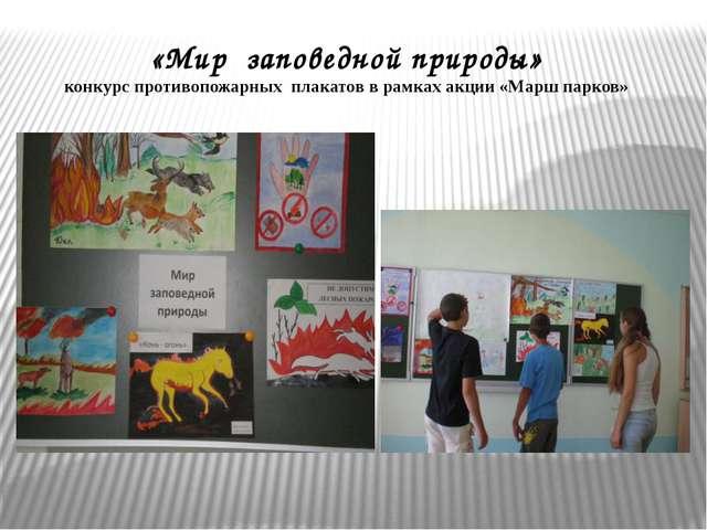 «Мир заповедной природы» конкурс противопожарных плакатов в рамках акции «Мар...