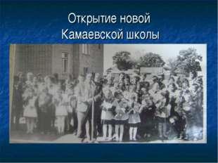Открытие новой Камаевской школы