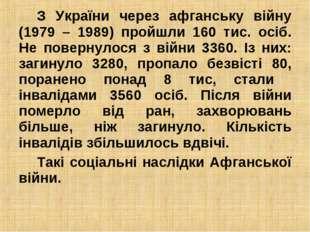 З України через афганську війну (1979 – 1989) пройшли 160 тис. осіб. Не повер
