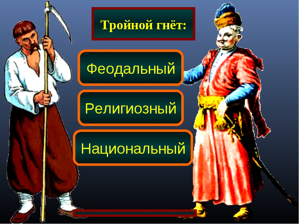 Тройной гнёт: Феодальный Религиозный Национальный