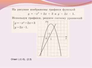 Ответ: (-2;-5), (2;3)
