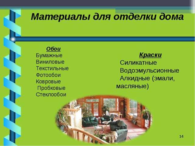 Материалы для отделки дома * Обои Бумажные Виниловые Текстильные Фотообои Ков...