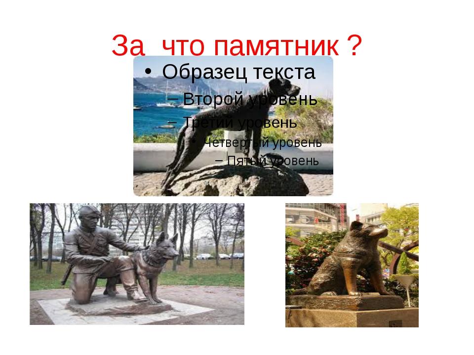 За что памятник ?