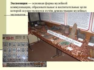 Экспозиция — основная форма музейной коммуникации, образовательные и воспитат