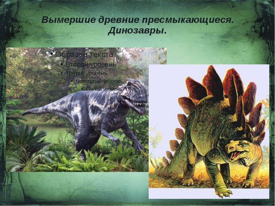 Вымершие древние пресмыкающиеся. Динозавры.