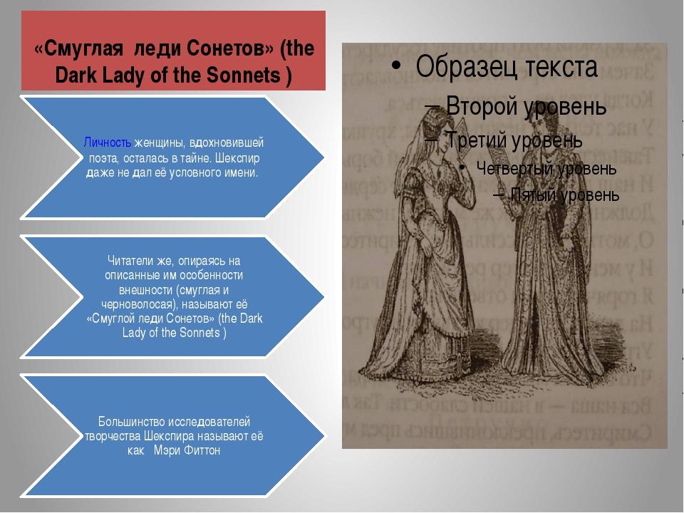 «Смуглая леди Сонетов» (the Dark Lady of the Sonnets )