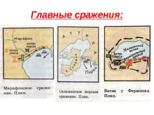 Главные сражения:
