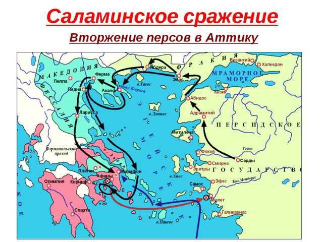 Саламинское сражение Вторжение персов в Аттику