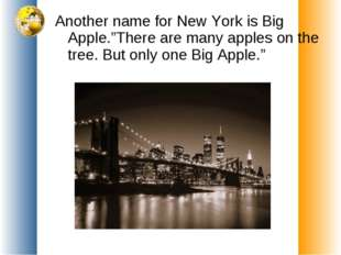 """Another name for New York is Big Apple.""""There are many apples on the tree. Bu"""