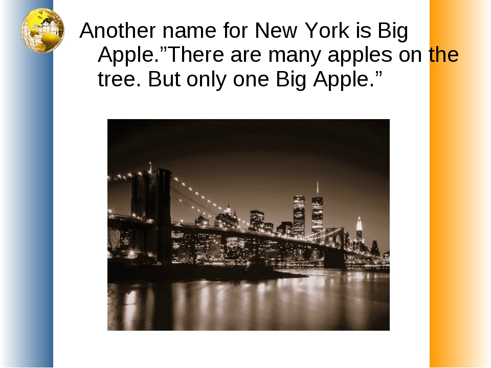 """Another name for New York is Big Apple.""""There are many apples on the tree. Bu..."""