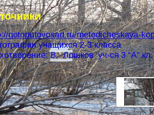 Источники http://gotoputovosad.ru/metodicheskaya-kopilka/news10.html фотограф...