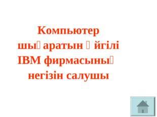 Компьютер шығаратын әйгілі ІВМ фирмасының негізін салушы