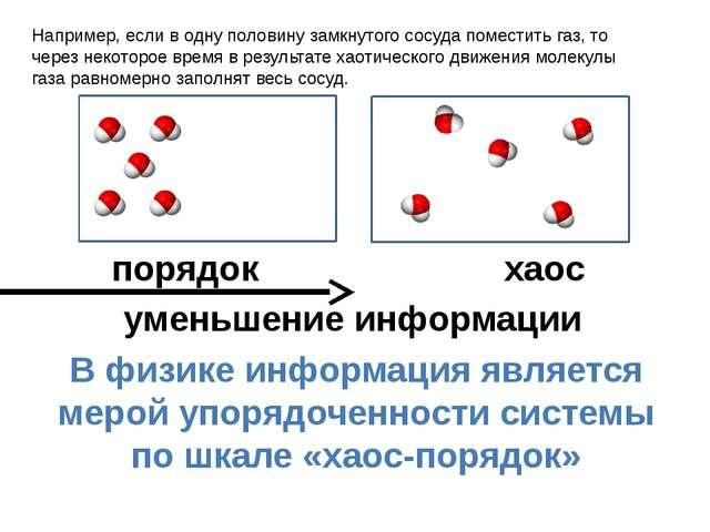порядок хаос уменьшение информации В физике информация является мерой упоряд...