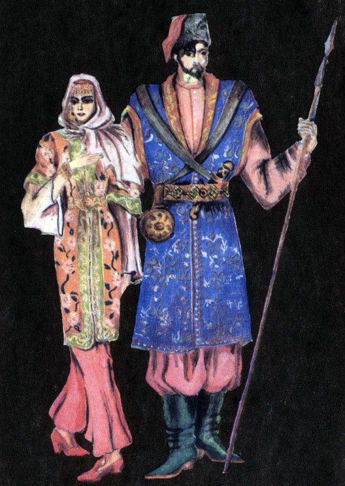 Казачий костюм. XVI-XVII вв