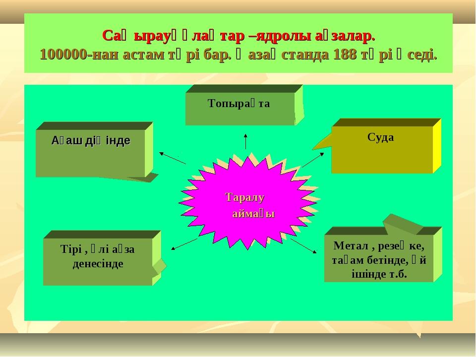 Саңырауқұлақтар –ядролы ағзалар. 100000-нан астам түрі бар. Қазақстанда 188 т...