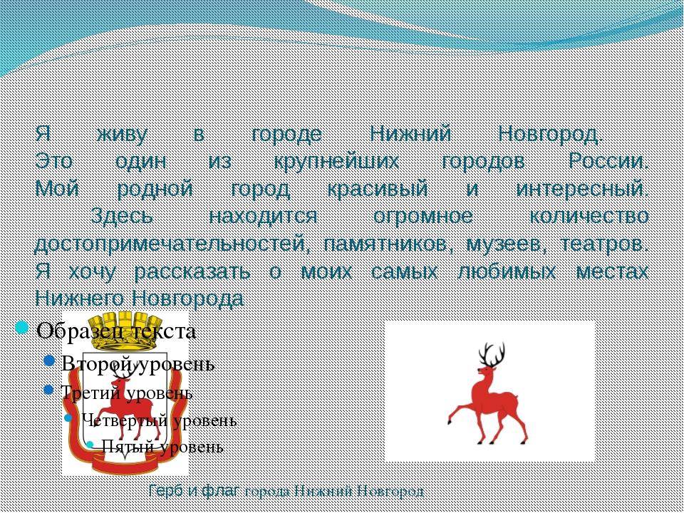 Я живу в городе Нижний Новгород. Это один из крупнейших городов России. Мой р...