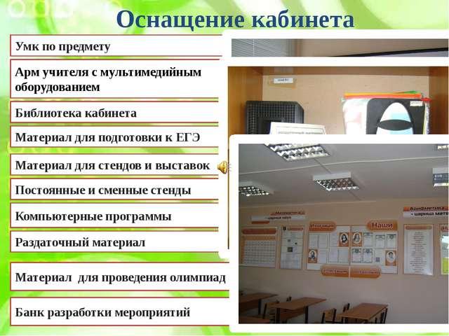 Оснащение кабинета Умк по предмету Арм учителя с мультимедийным оборудованием...