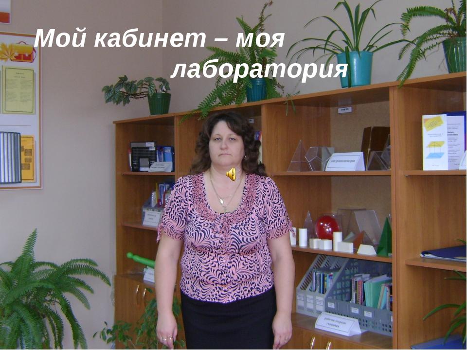 Мой кабинет – моя лаборатория