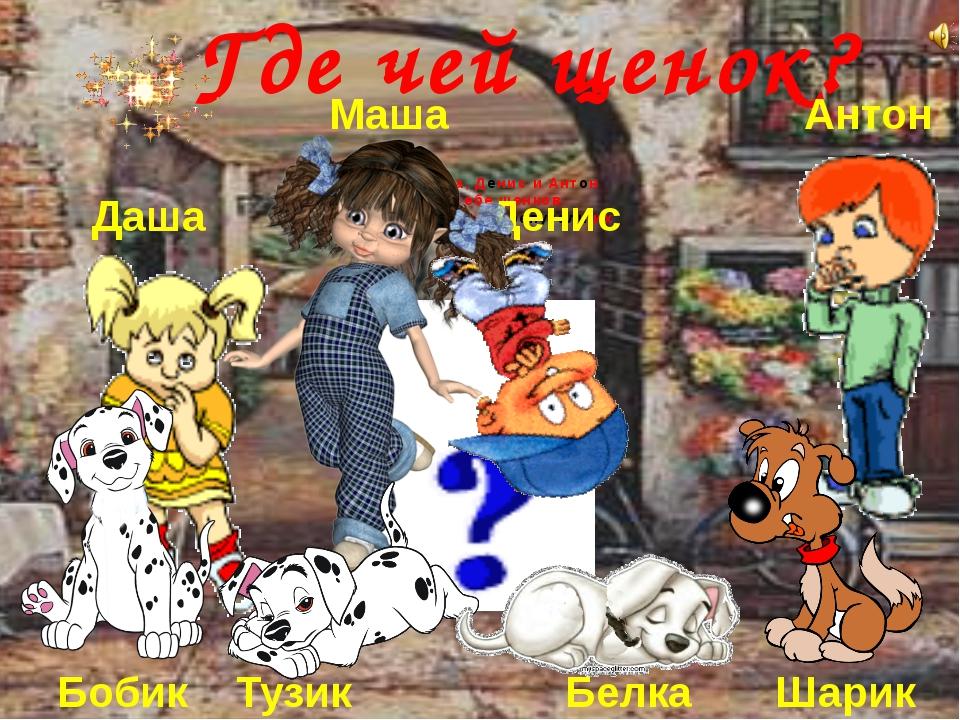 Даша, Маша, Денис и Антон купили себе щенков. Пошли гулять и перепутали их Г...