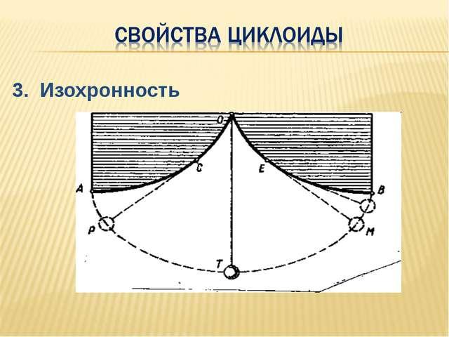 3. Изохронность