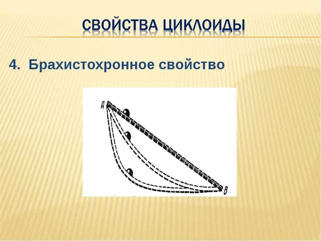 4. Брахистохронное свойство