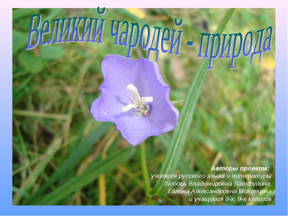 Авторы проекта: учителя русского языка и литературы Любовь Владимировна Латфу...