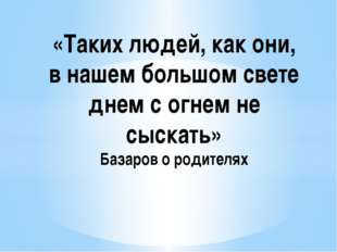 «Таких людей, как они, в нашем большом свете днем с огнем не сыскать» Базаров