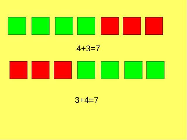 4+3=7 3+4=7