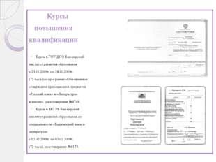 Курсы повышения квалификации Курсы в ГОУ ДПО Башкирский институт развития об