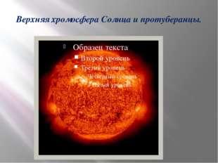 Верхняя хромосфера Солнца и протуберанцы.