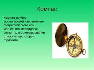 Компас Компас-прибор, указывающий направление географического или магнитного