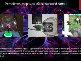 Устройство современной плазменной лампы Плазменная лампа состоит из стеклянно
