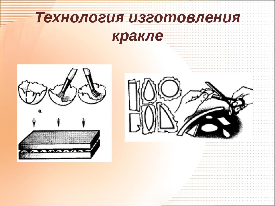 Технология изготовления кракле