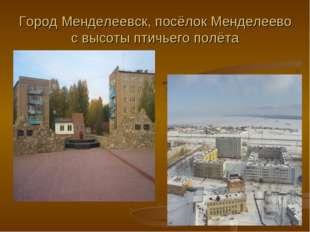 Город Менделеевск, посёлок Менделеево с высоты птичьего полёта