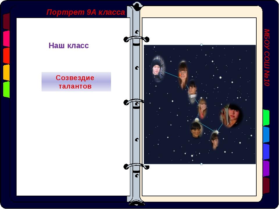 Портрет 9А класса МБОУ СОШ №10 Наш класс Созвездие талантов