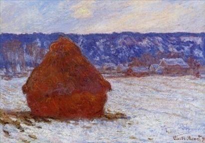 C:\Documents and Settings\Оля\Рабочий стол\картины им\стог сена в пасмурную погоду,выпал снег 1890-1891.jpg