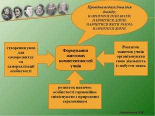 Формування життєвих компетентностей учнів