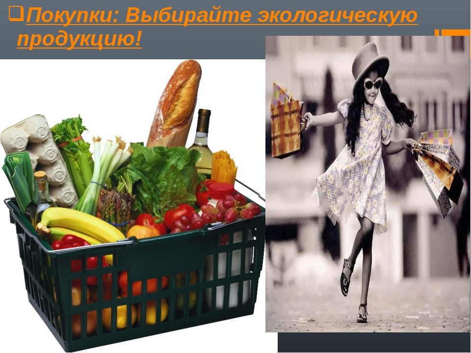 Покупки: Выбирайте экологическую продукцию!