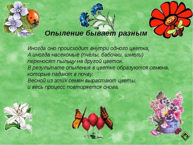 Опыление бывает разным Иногда оно происходит внутри одного цветка, А иногда н...