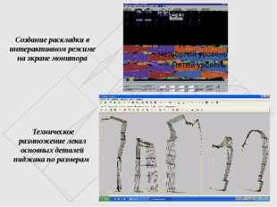 Создание раскладки в интерактивном режиме на экране монитора Техническое разм