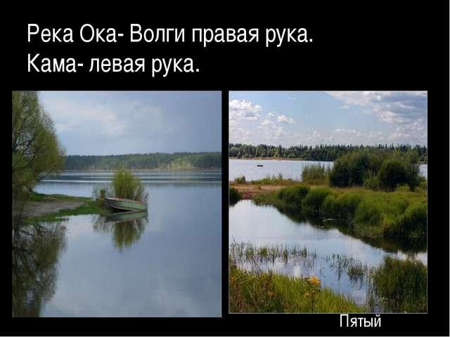 Река Ока- Волги правая рука. Кама- левая рука. Для правки структуры щелкните...